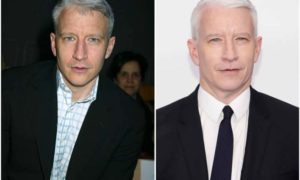Anderson Cooper's eyes and hair color