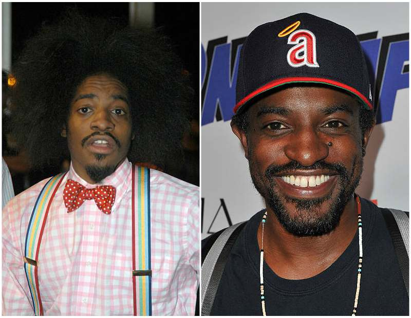 Andre 3000's eyes and hair color