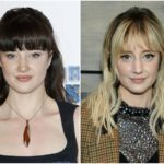Andrea Riseborough's height, weight. He had to lose weight for her role