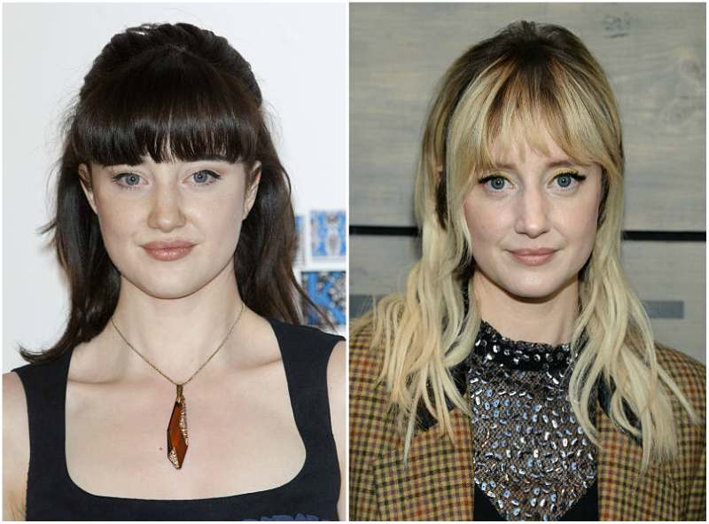 Andrea Riseborough's eyes and hair color