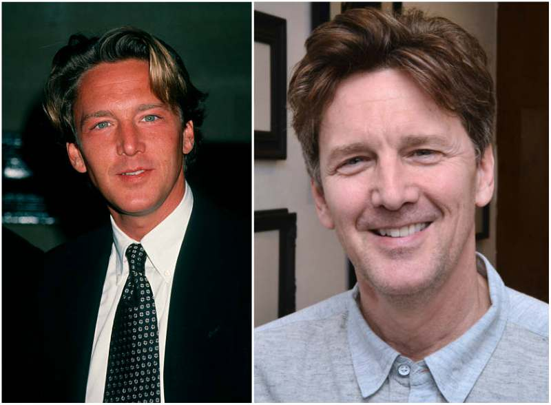 Andrew McCarthy's eyes and hair color