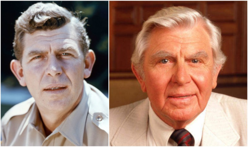 Andy Griffith's eyes and hair color