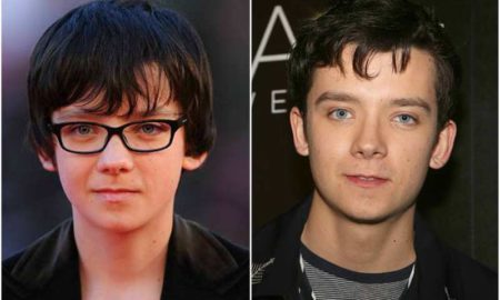 Asa Butterfield's eyes and hair color