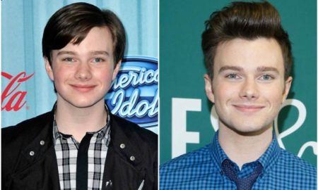 Chris Colfer's eyes and hair color
