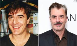Chris Noth's eyes and hair color