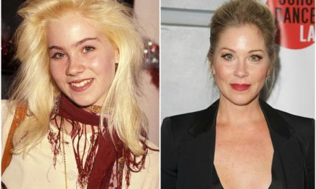 Christina Applegate's eyes and hair color