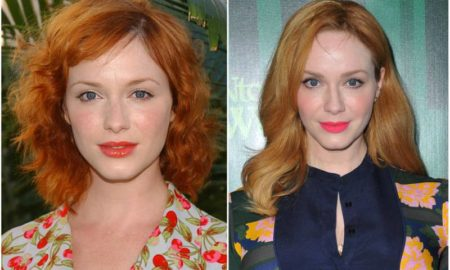 Christina Hendricks' eyes and hair color