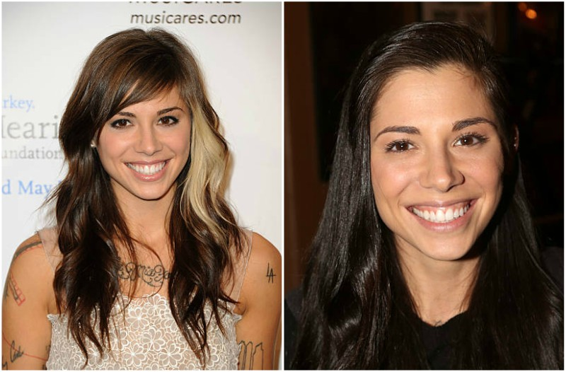 Christina Perri's eyes and hair color