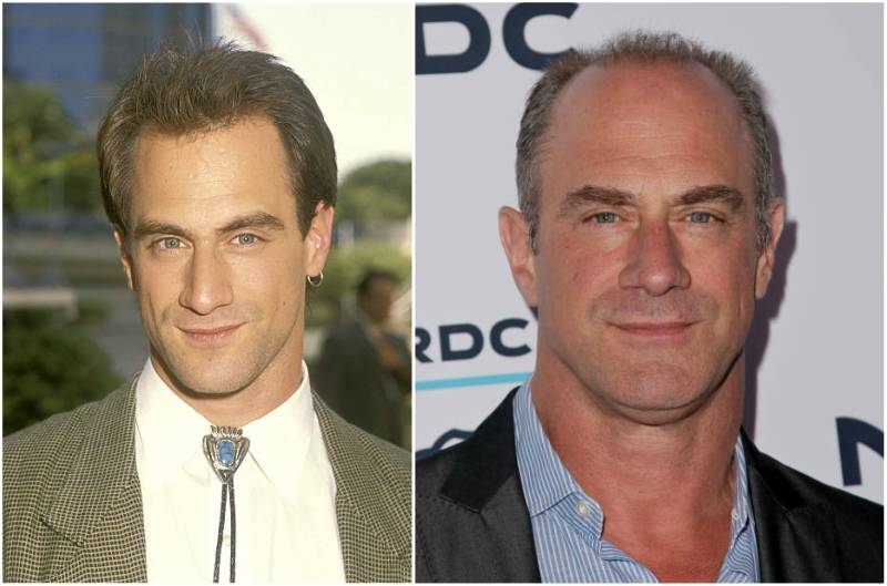 Christopher Meloni's eyes and hair color