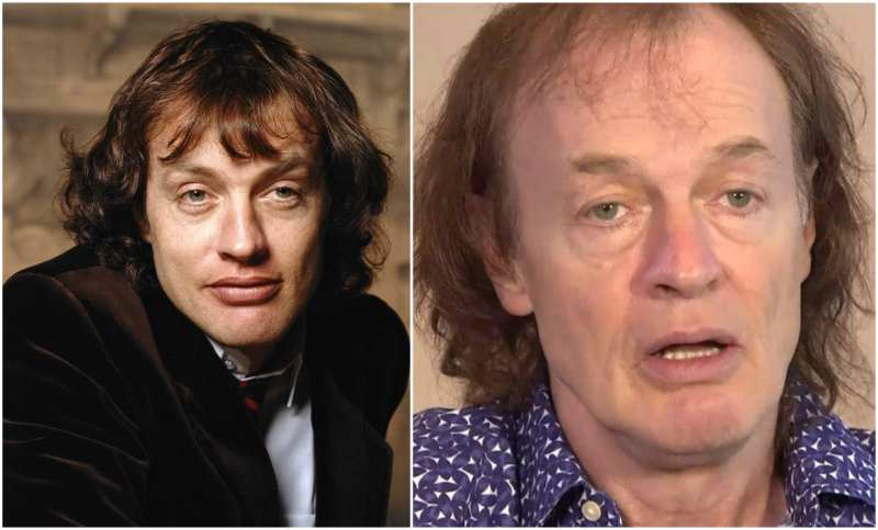 Angus Young's eyes and hair color