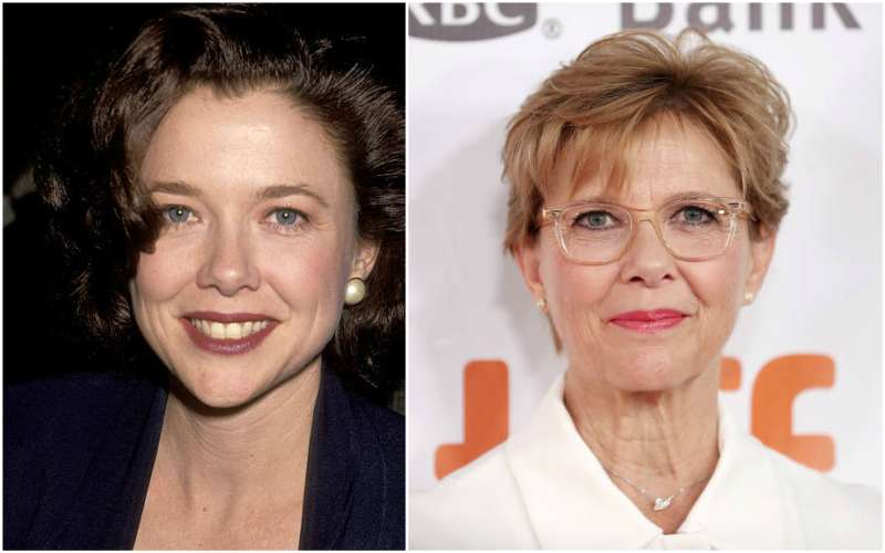 Annette Bening's eyes and hair color