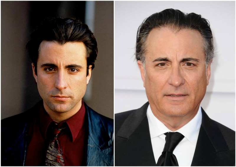 Andy Garcia's eyes and hair color