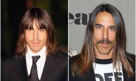 Anthony Kiedis' eyes and hair color