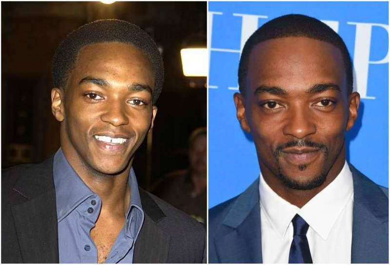 Anthony Mackie's eyes and hair color