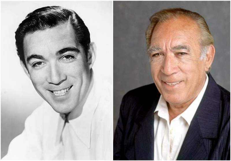 Anthony Quinn's eyes and hair color