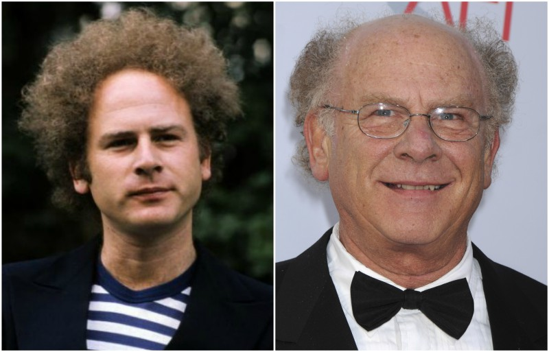 Art Garfunkel's eyes and hair color
