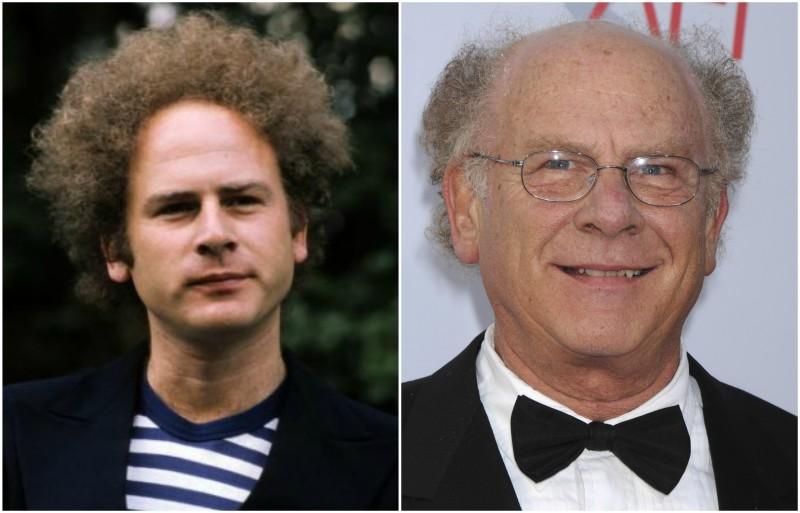 Art Garfunkel's eyes and hair color