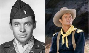 Audie Murphy's eyes and hair color