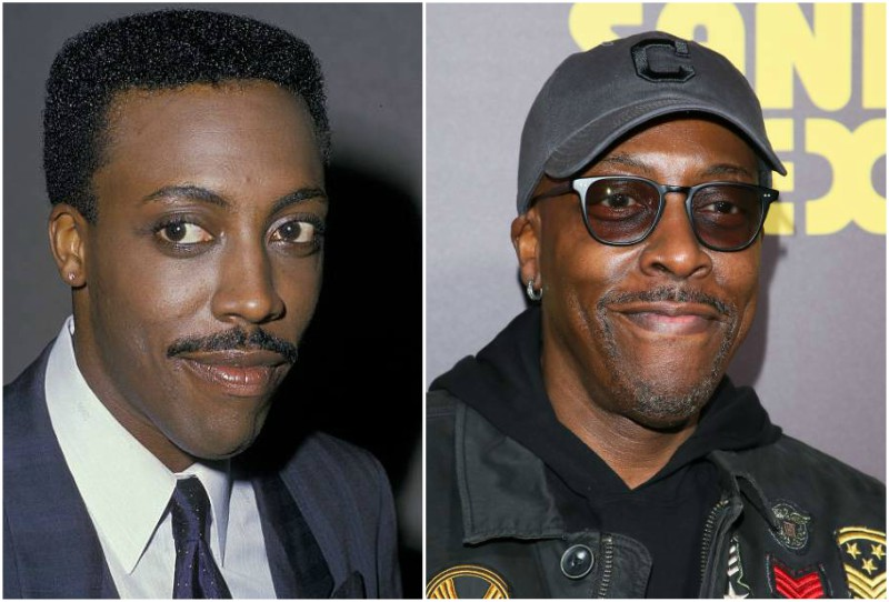Arsenio Hall's eyes and hair color