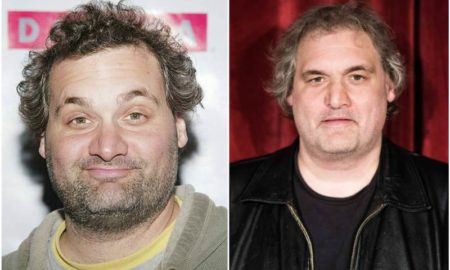 Artie Lange's eyes and hair color