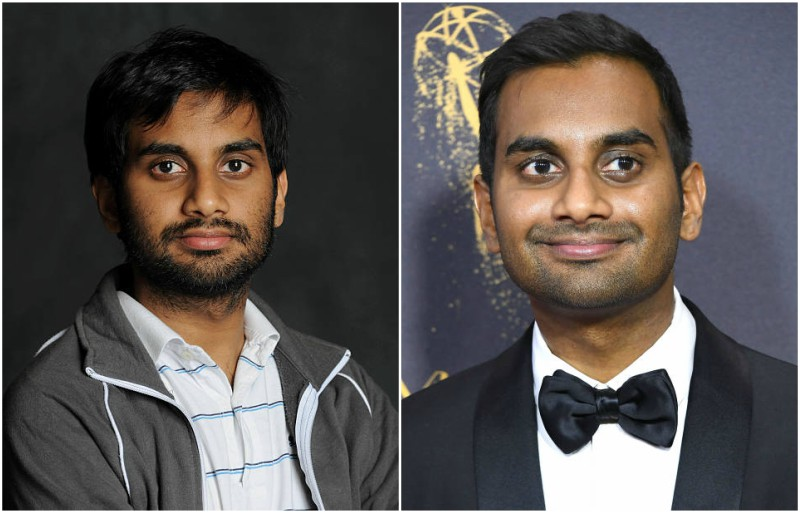 Aziz Ansari's eyes and hair color