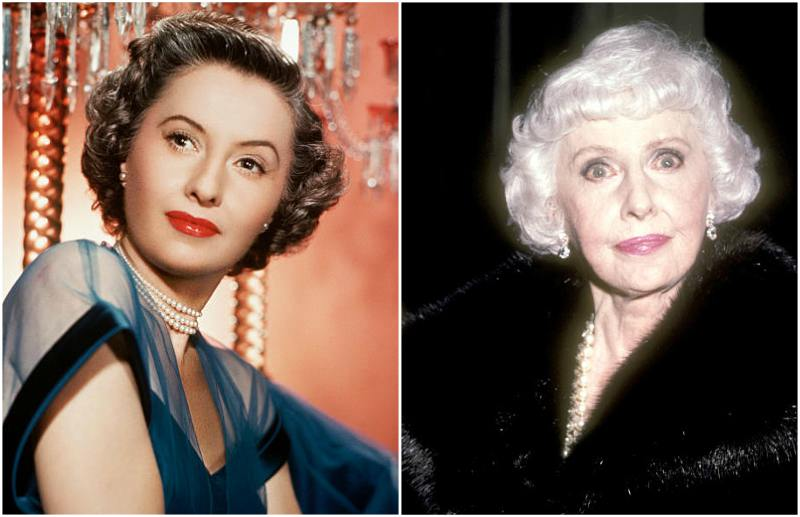 Barbara Stanwyck's eyes and hair color