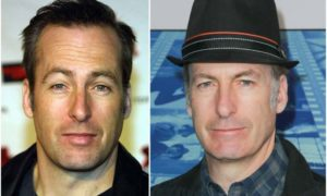 Bob Odenkirk's eyes and hair color