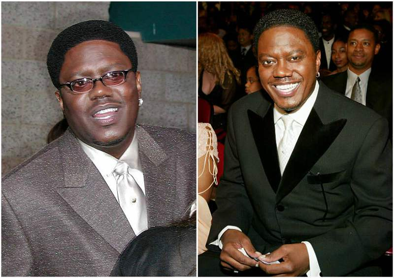Bernie Mac's eyes and hair color