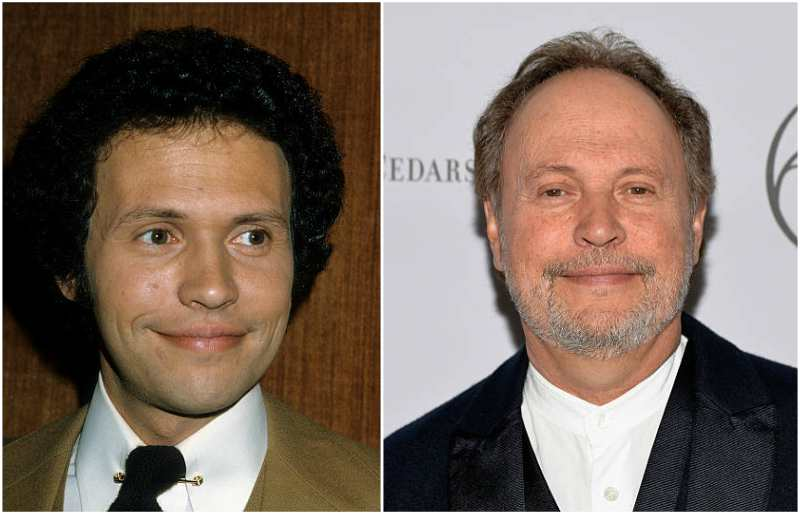 Billy Crystal's eyes and hair color