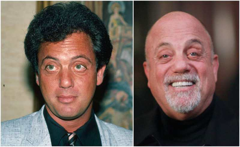 Billy Joel's eyes and hair color