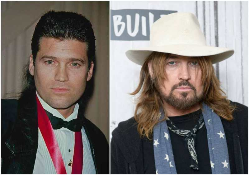 Billy Ray Cyrus' eyes and hair color