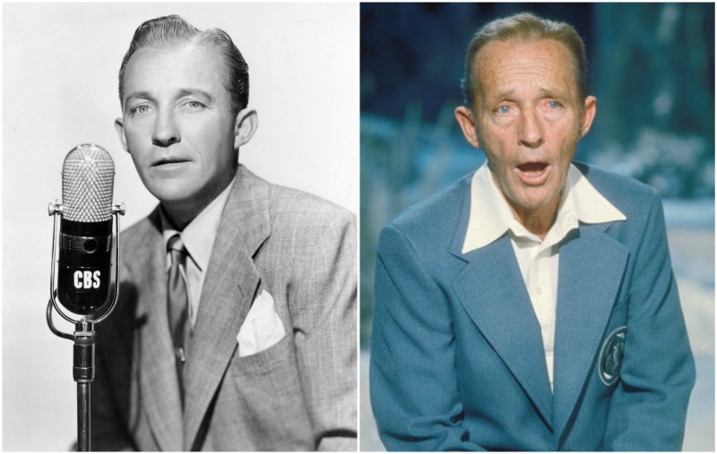Bing Crosby's eyes and hair color