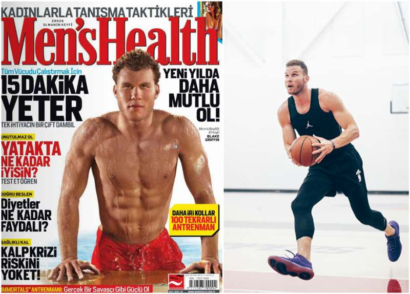 Blake Griffin's height, weight and body measurements