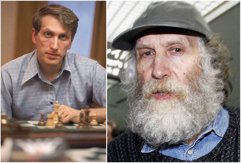 Bobby Fischer's eyes and hair color