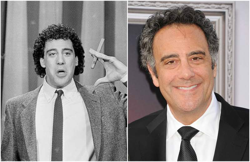 Brad Garrett's eyes and hair color