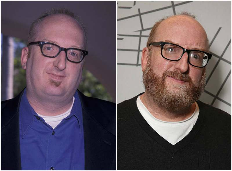 Brian Posehn's eyes and hair color