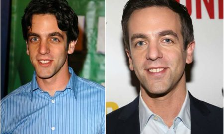 BJ Novak's eyes and hair color
