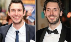 Blake Harrison's eyes and hair color