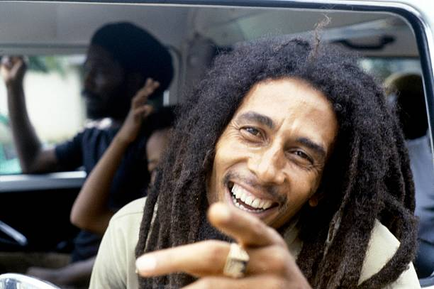 Bob Marley's eyes and hair color