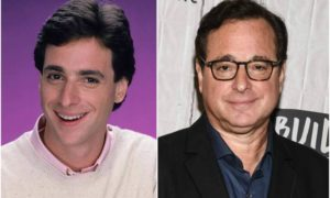 Bob Saget's eyes and hair color
