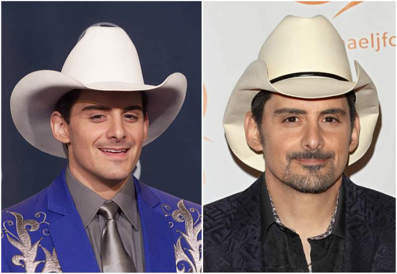 Brad Paisley's eyes and hair color