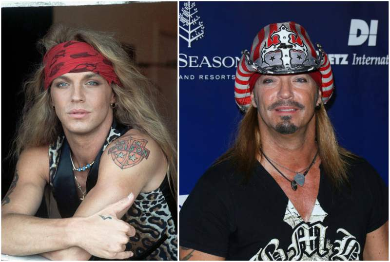 Bret Michaels' eyes and hair color