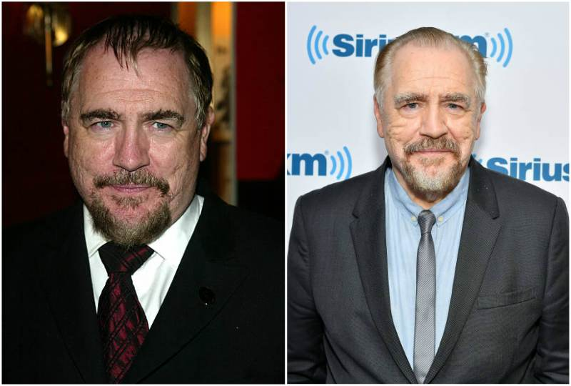 Brian Cox's eyes and hair color