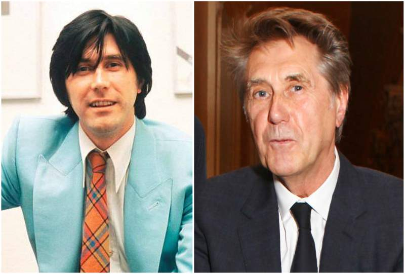 Bryan Ferry's eyes and hair color