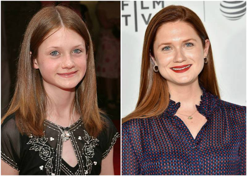 Bonnie Wright's eyes and hair color