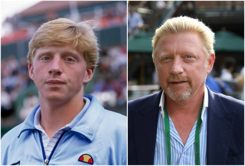 Boris Becker's eyes and hair color