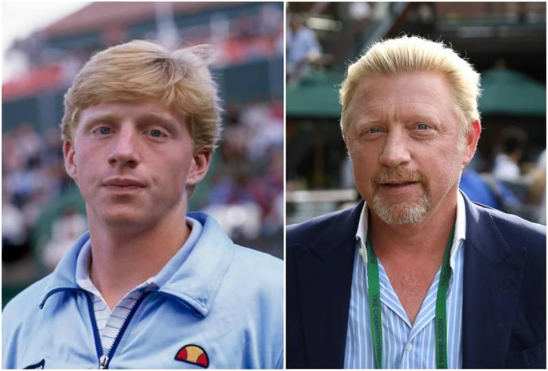 Boris Becker's eyes and hair color