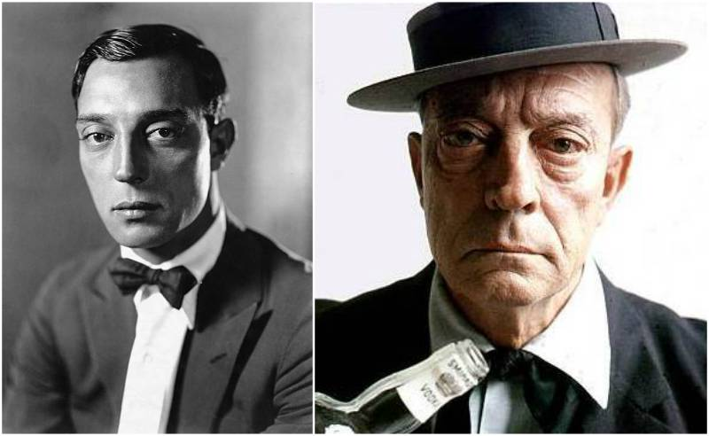Buster Keaton's eyes and hair color