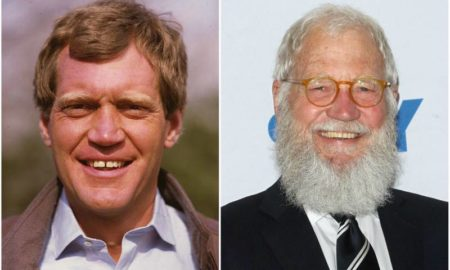 David Letterman's eyes and hair color