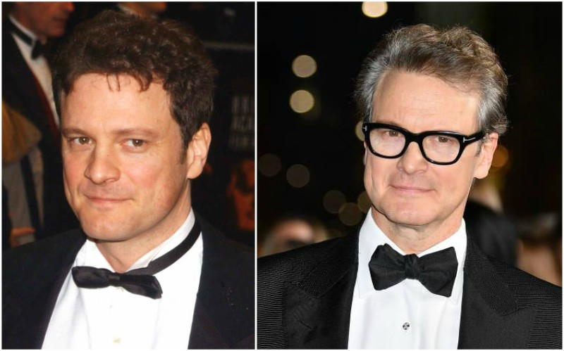 Colin Firth's eyes and hair color